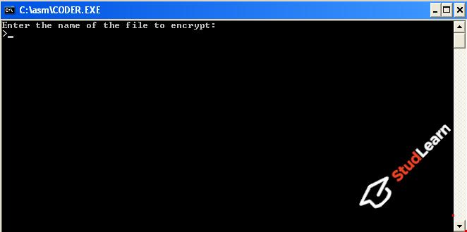 Шифрование и дешифрование файлов методом сложения с ключом (ASM)