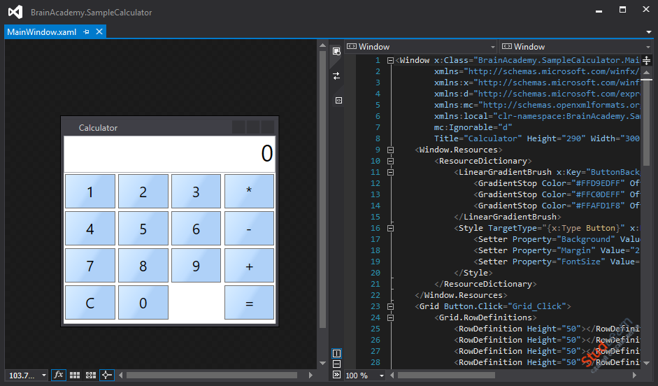 Исходника калькулятора на WPF C#