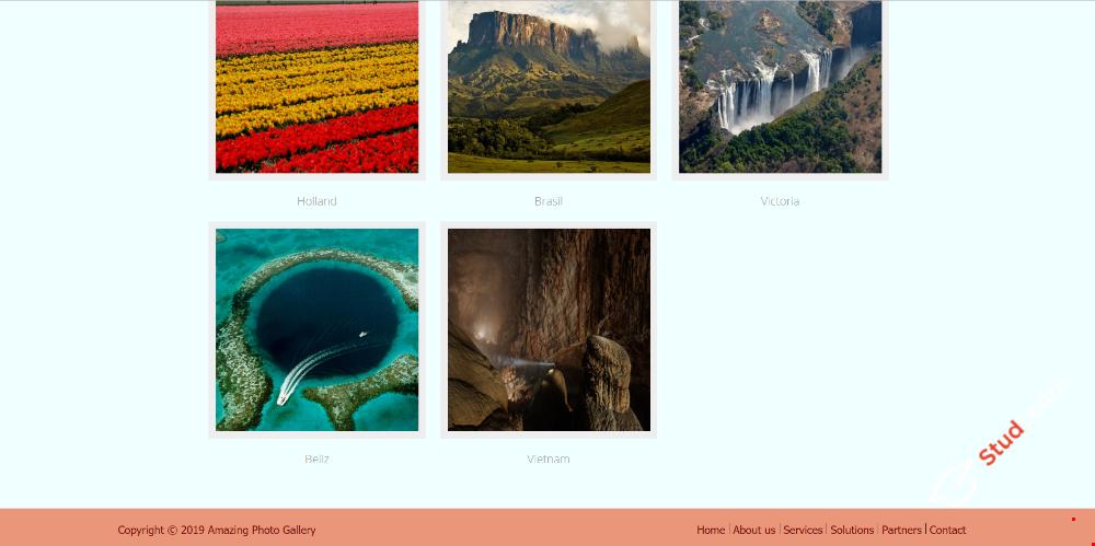 """Простой макет сайта """"Фотогалерея"""" HTML/CSS"""