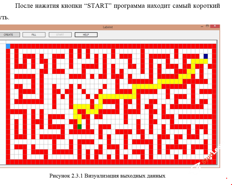 Курсовая работа. Тема: волновой алгоритм (алгоритм Ли). Программа C# + пояснительная записка (word 31стр)